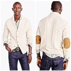 J. Crew cotton Mariner Cable Cardigan Sweater